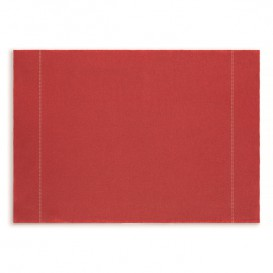 "Set de Table ""Day Drap"" Rouge 32x45cm (72 Utés)"