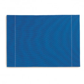 "Set de Table ""Day Drap"" Bleu Royal 32x45cm (12 Utés)"