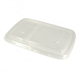 Couvercle Plastique PP pour Boîte 2C 23x16,5cm (150 Utés)