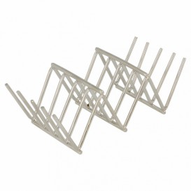 Support pour Hot Dog en Acier 118x51x37mm (12 Utés)