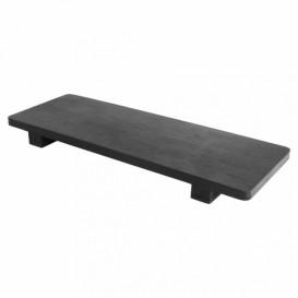 Base en Bambou Noir pour Sushi 30x11x2,5cm (1 Uté)