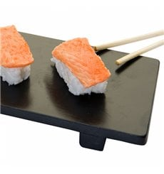 Base en Bambou Noir pour Sushi 50x23x2,5cm (1 Uté)