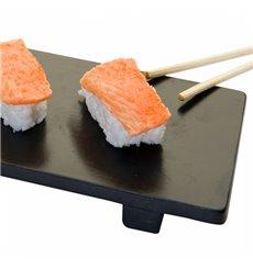 Base en Bambou Noir pour Sushi 50x23x2,5cm (10 Utés)