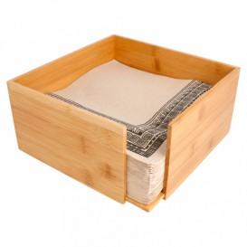 Porte-serviettes en Bambou 21x21x10cm (12 Utés)