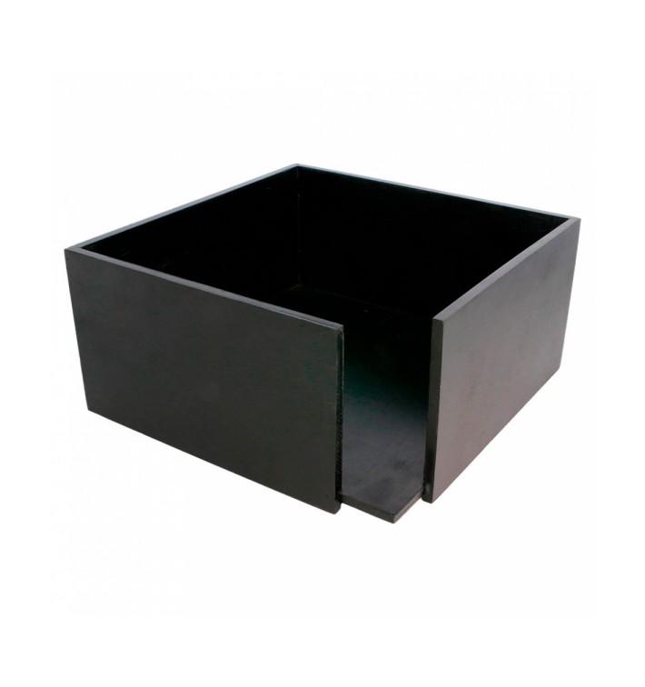 Porte-serviettes en Bambou Noir 21x21x10cm (1 Uté)