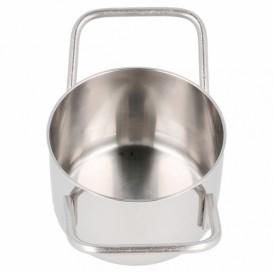 Mini Cocotte en Acier Inoxydable Ø8x4,5cm (6 Utés)