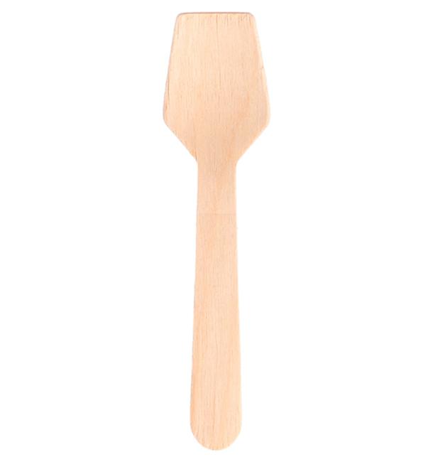 Petite Cuillère en Bois pour Glace 95mm (100 Unités)