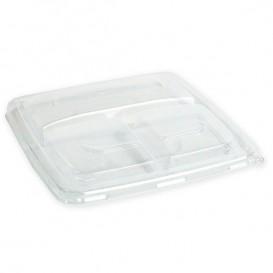 Couvercle Plastique PP pour Boîte 3C 23cm (150 Utés)