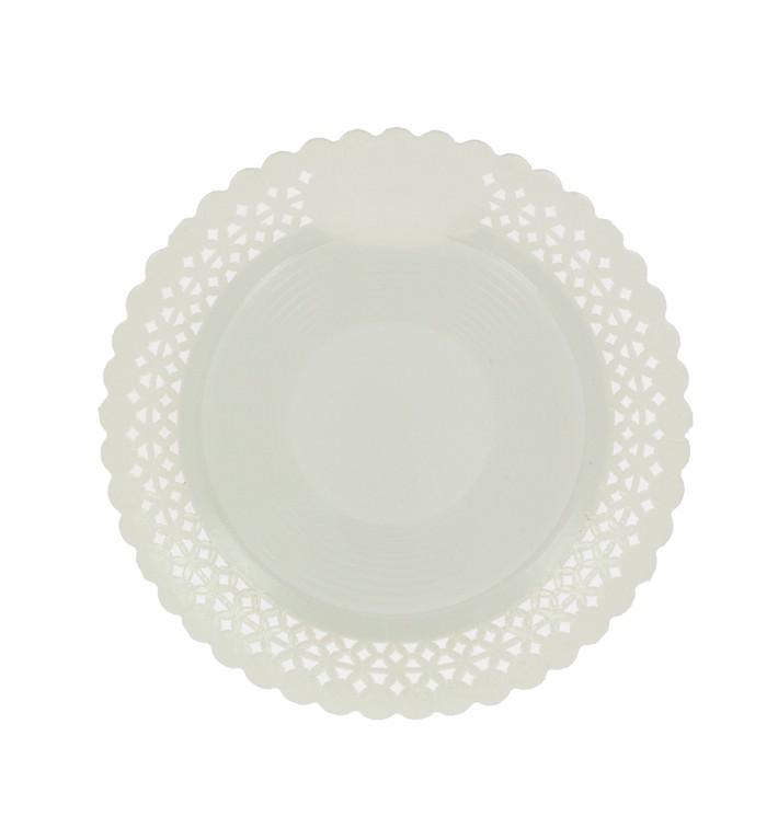 Assiette en Carton Ronde Dentelle Blanc 38 cm (100 Utés)