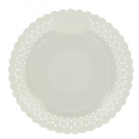 Assiette en Carton Ronde Dentelle Blanc 23 cm (50 Utés)