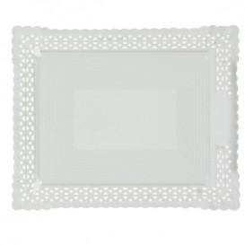 Plateau en Carton Dentelle Blanc 18x25 cm (100 Utés)