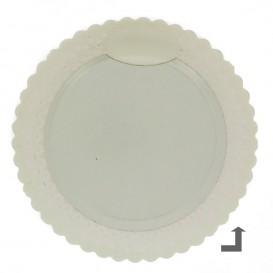 Assiette en Carton Ronde Dentelle Noir 23 cm (100 Utés)
