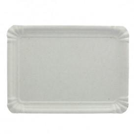 Plat rectangulaire en Carton Blanc 10x16 cm (2200 Unités)