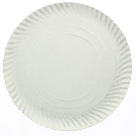 Assiette en Carton Ronde Blanc 380 mm (250 Unités)