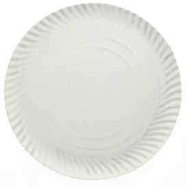 Assiette en Carton Ronde Blanc 120 mm 450g/m2 (100 Unités)