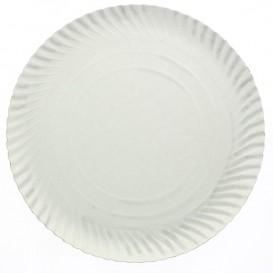 Assiette en Carton Ronde Blanc 250 mm 600g/m2 (500 Unités)