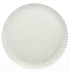 Assiette en Carton Ronde Blanc 180 mm (100 Unités)