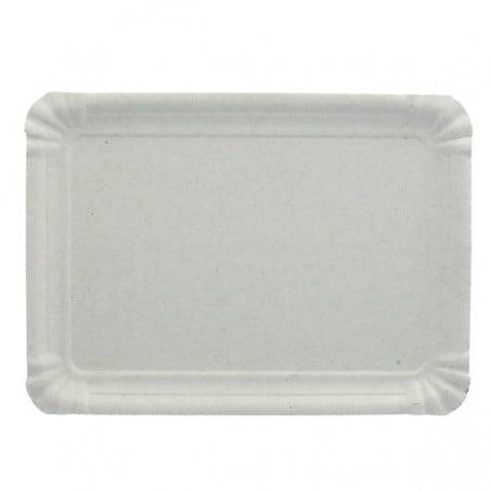 Plat rectangulaire en Carton Blanc 12x19 cm (1500 Utés)