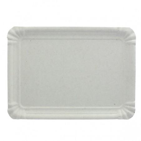 Plat rectangulaire en Carton Blanc 18x24 cm (100 Utés)