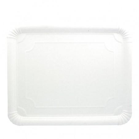 Plat rectangulaire en Carton Blanc 31x38 cm (200 Utés)