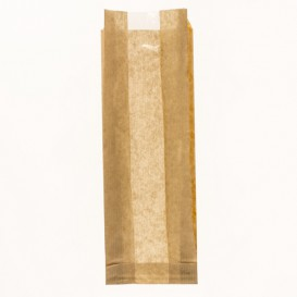 Sac Papier Kraft Fenêtre 10+4x29cm (125 Utés)