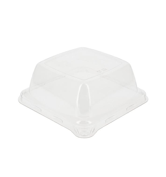 Couvercle Plastique PET Transparent 14,1x14,1cm (100 Unités)
