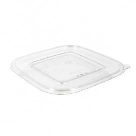 Couvercle Plat pour Bol Plastique PET 175x175mm (50 Utés)