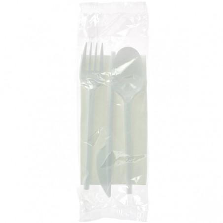 Kit Fourchette, Cuillère, Couteau, Serviette (500 Utés)