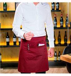 Tablier avec 1 poche Bordeaux 75x50cm (1 Uté)