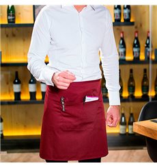 Tablier avec 1 poche Bordeaux 75x50cm (20 Utés)