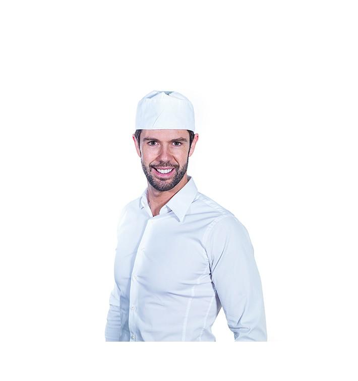 Calot Cuisinier Coton Blanc (1 Unité)