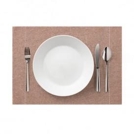 """Set de Table """"Day Drap"""" Marron Clair 32x45cm (72 Utés)"""