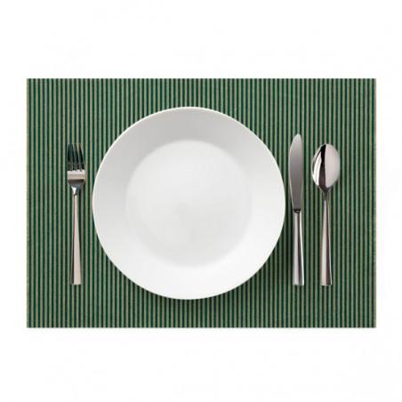"""Set de Table """"Day Drap"""" Ligne Verte 32x45cm (12 Utés)"""