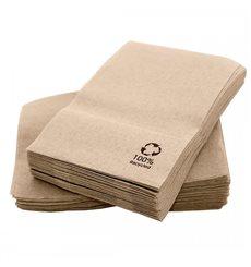 """Serviette en Papier Eco """"Recycled"""" 17x17 cm (200 Utés)"""