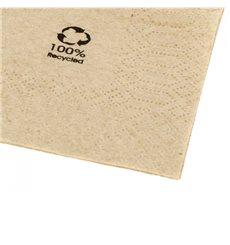"""Serviette Papier Eco """"Recycled"""" 2E 20x20cm (100 Unités)"""