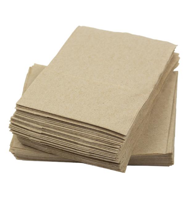 Serviette en Papier Ecologique Snack 17x17 cm (200 Utés)