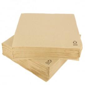 Serviette Papier Kraft 2E Molletonnée 33x33cm (50 Unités)