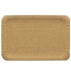 Plat rectangulaire en Carton Kraft 16x22 cm (100 Unités)