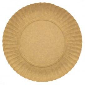 Assiette en Carton Ronde Kraft 180 mm 255g/m2 (100 Unités)