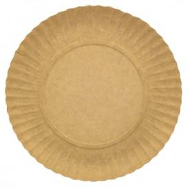 Assiette en Carton Ronde Kraft 230 mm 255g/m2 (100 Unités)
