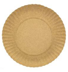 Assiette en Carton Ronde Kraft 230 mm (100 Unités)