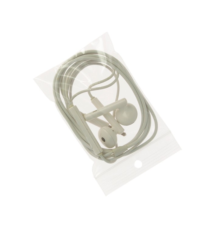 Sac PE Fermeture Zip et Perforation 4x6cm G200 (100 Utés)