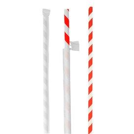 Paille Papier Ø6mm 20cm Emballée Individuellement (6000 Utés)
