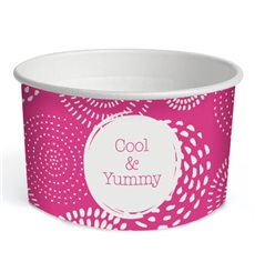"Pot à glace en carton 6,5oz/195ml ""Cool&Yummy"" (45 Unités)"