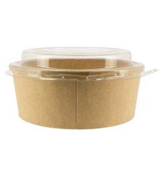 Pot en Carton Kraft-Kraft avec couvecle RPET 19 Oz/550 ml (50 Utés)
