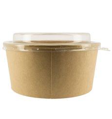 Pot en Carton Kraft avec couvecle PET 25 Oz/750 ml (50 Utés)