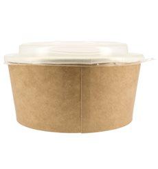 Pot en Carton Kraft avec couvecle PP 25 Oz/750 ml (50 Utés)