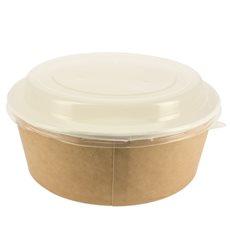 Pot en Carton Kraft avec couvecle PP 38 Oz/1120 ml (25 Utés)