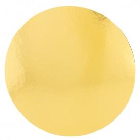 Disque Carton Face Doré et Blanc 220 mm (100 Utés)