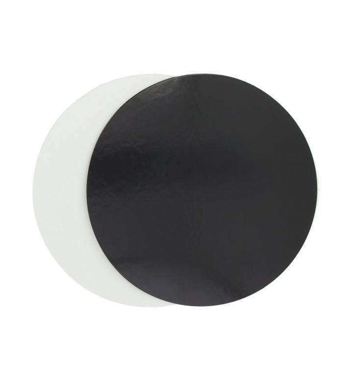 Disque Carton Noir et Blanc 170 mm (100 Unités)